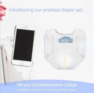 Velona Cuddles Preemie Diaper Launched in Sri Lanka