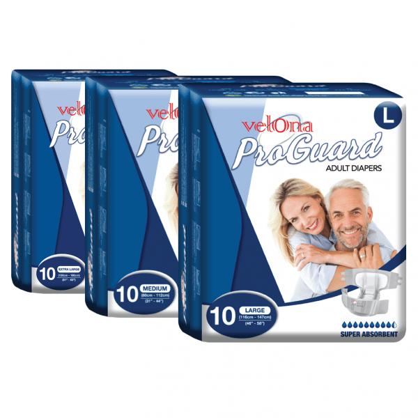 Velona Proguard Adult Diaper (10pc Packs)