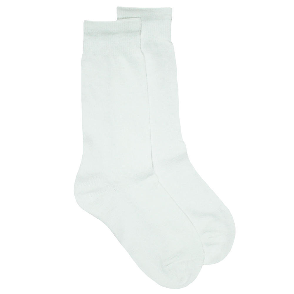 White School Socks