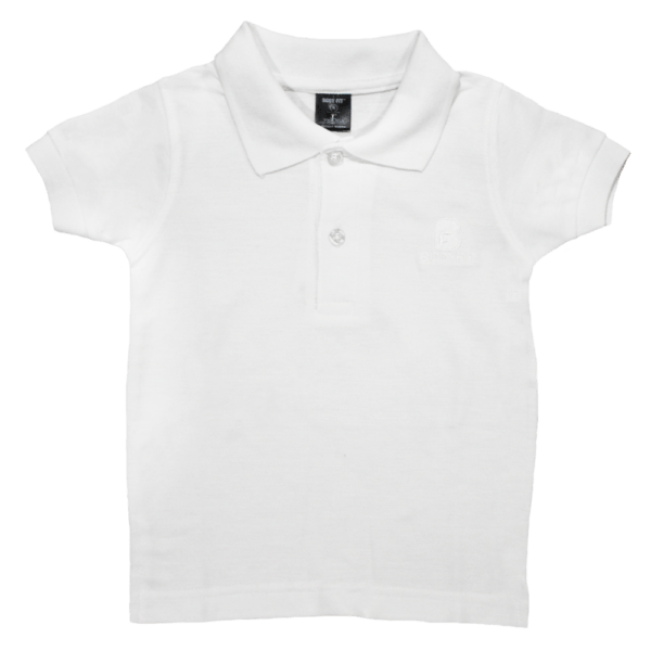 Velona White Polo Shirt for Children