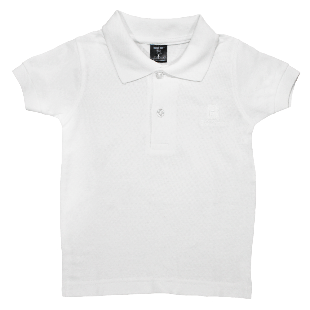 Bodyfit White Polo Shirt for kids