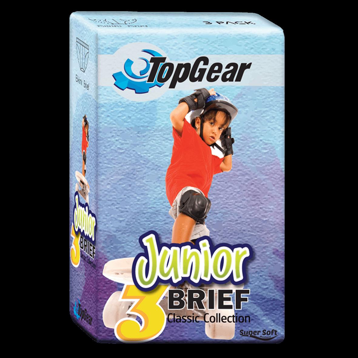 TopGear Coloured Junior Briefs