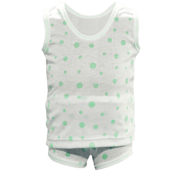 Velona Stretchy Polka Dotted Baby Suit