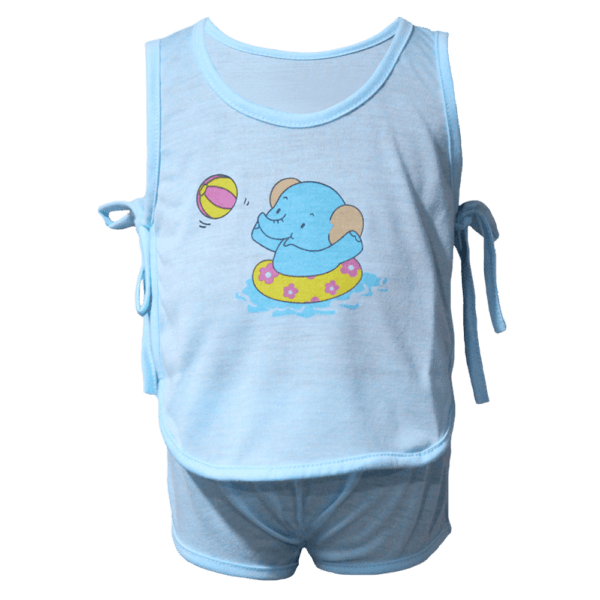 Velona Baby Suit with Side Tie Ribbon