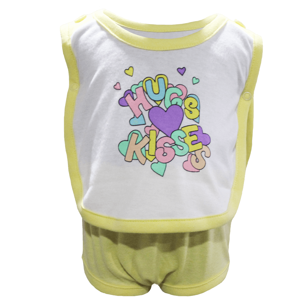 Velona Side Snap Baby Vest and Pant