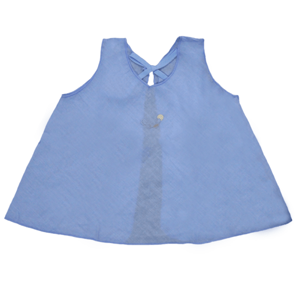 Velona Large Embroidered Baby Shirt - Blue