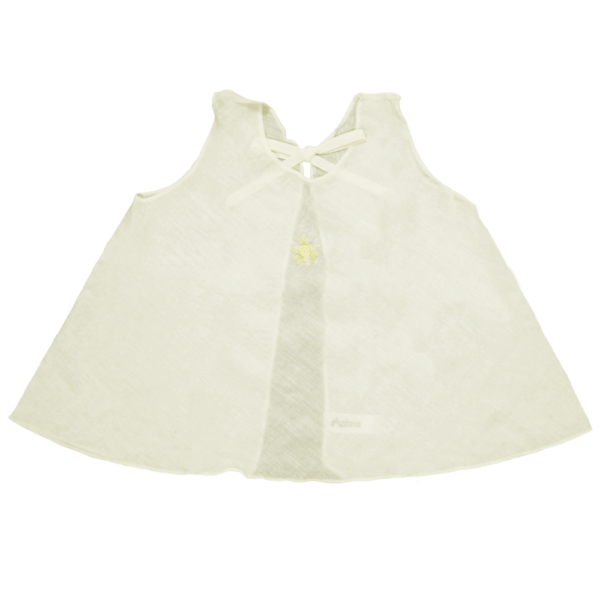 Velona Large Embroidered Baby Shirt - Ivory