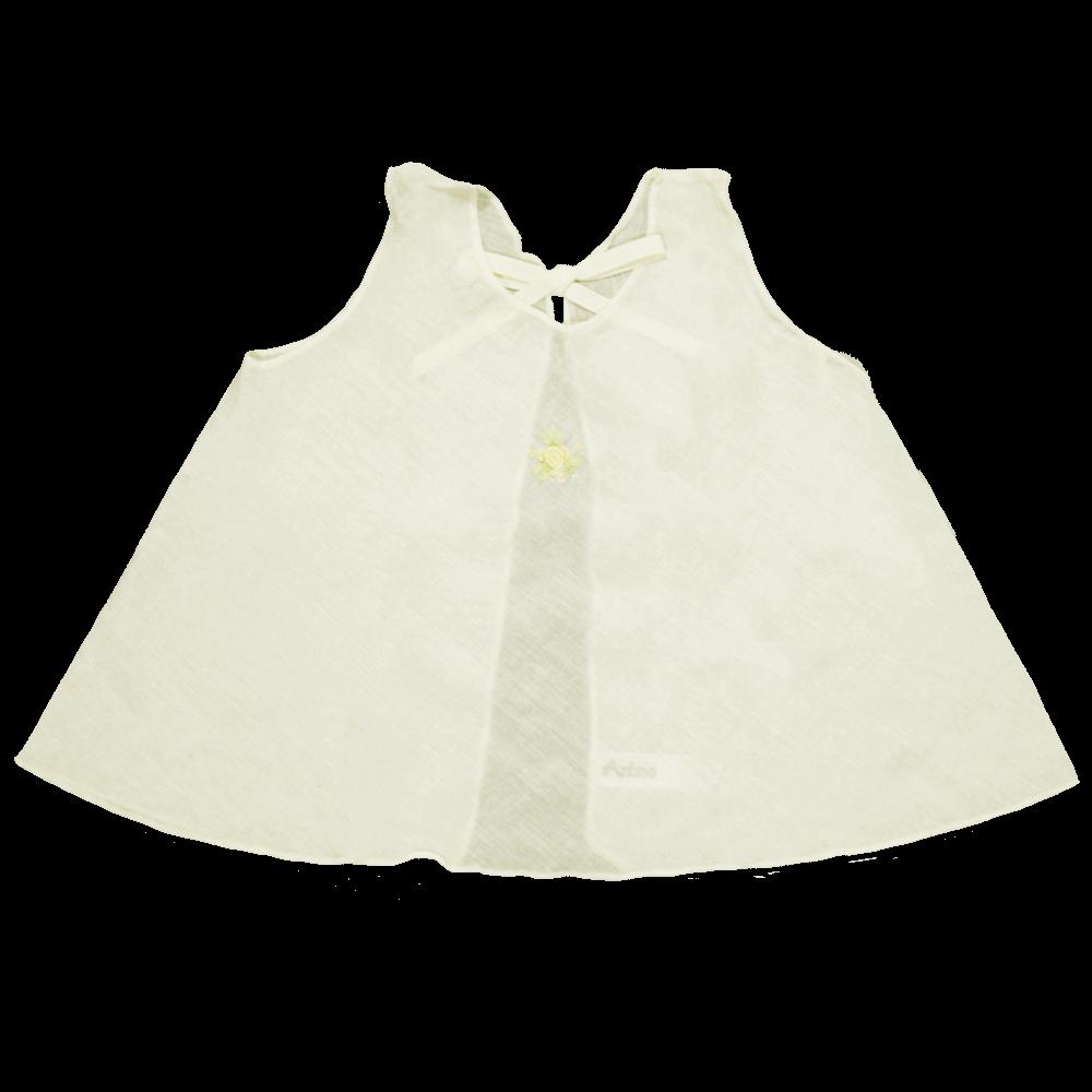 Velona Large Embroidered Baby Shirt - Ivory