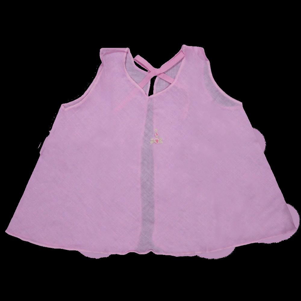 Velona Newborn Embroidered Baby Shirt Set- Pink