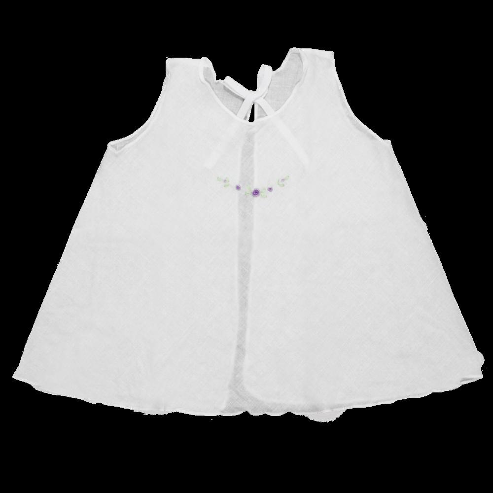 Velona Large Embroidered Baby Shirt - White
