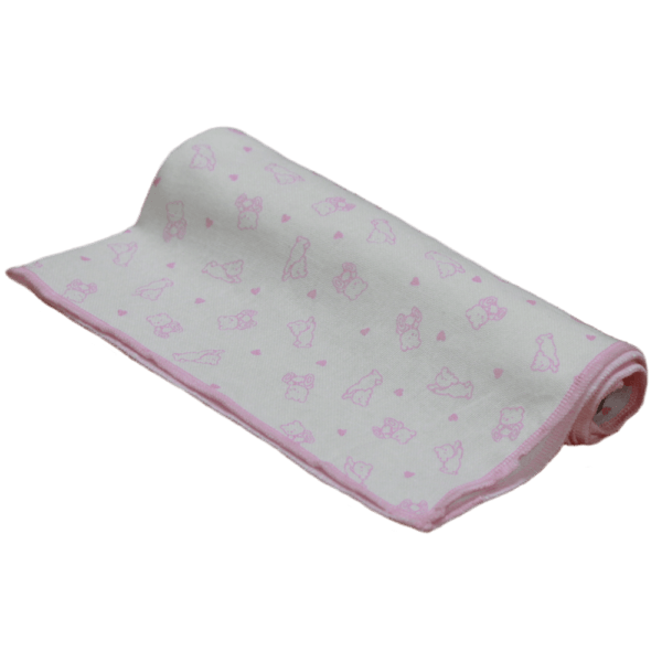 Velona Large Cotton Pink Teddy Nappy