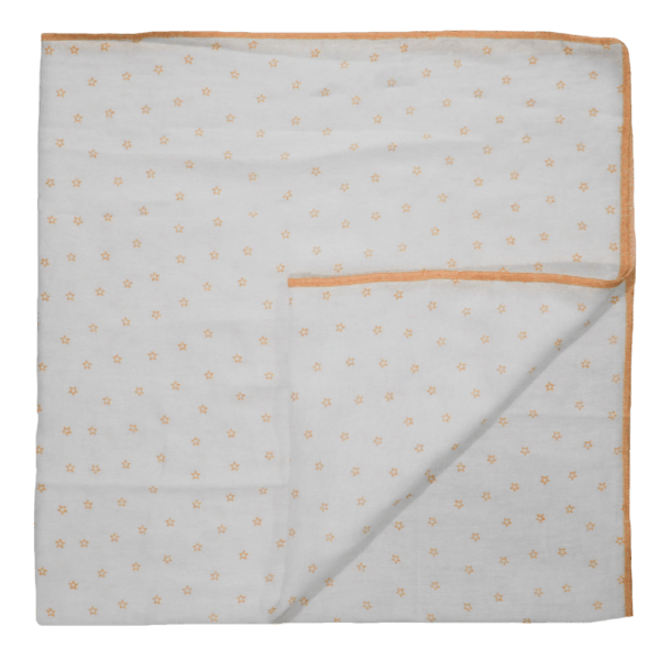 Velona Cotton Swaddle - Orange Stars