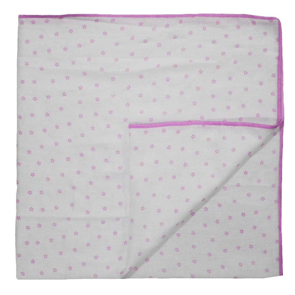 Velona Baby Wrapper - Pink Star Design
