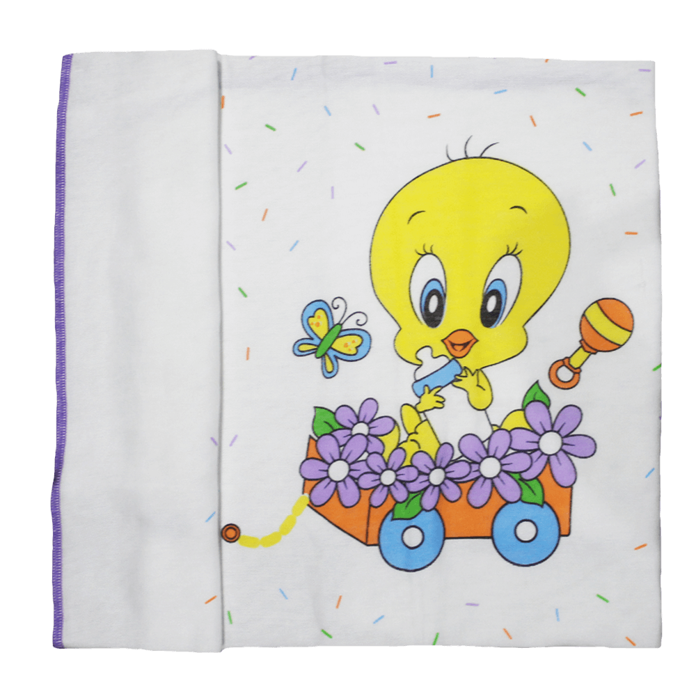 Tweety Bird Baby Towel Purple