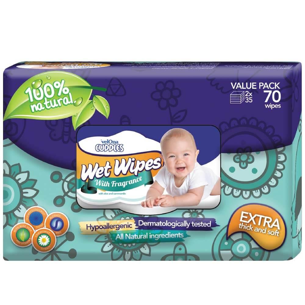 Velona Cuddles Fragranced Wet Wipes