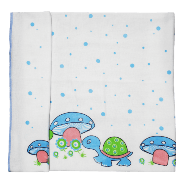 Velona Organic Cotton Baby Towel with Turtle design