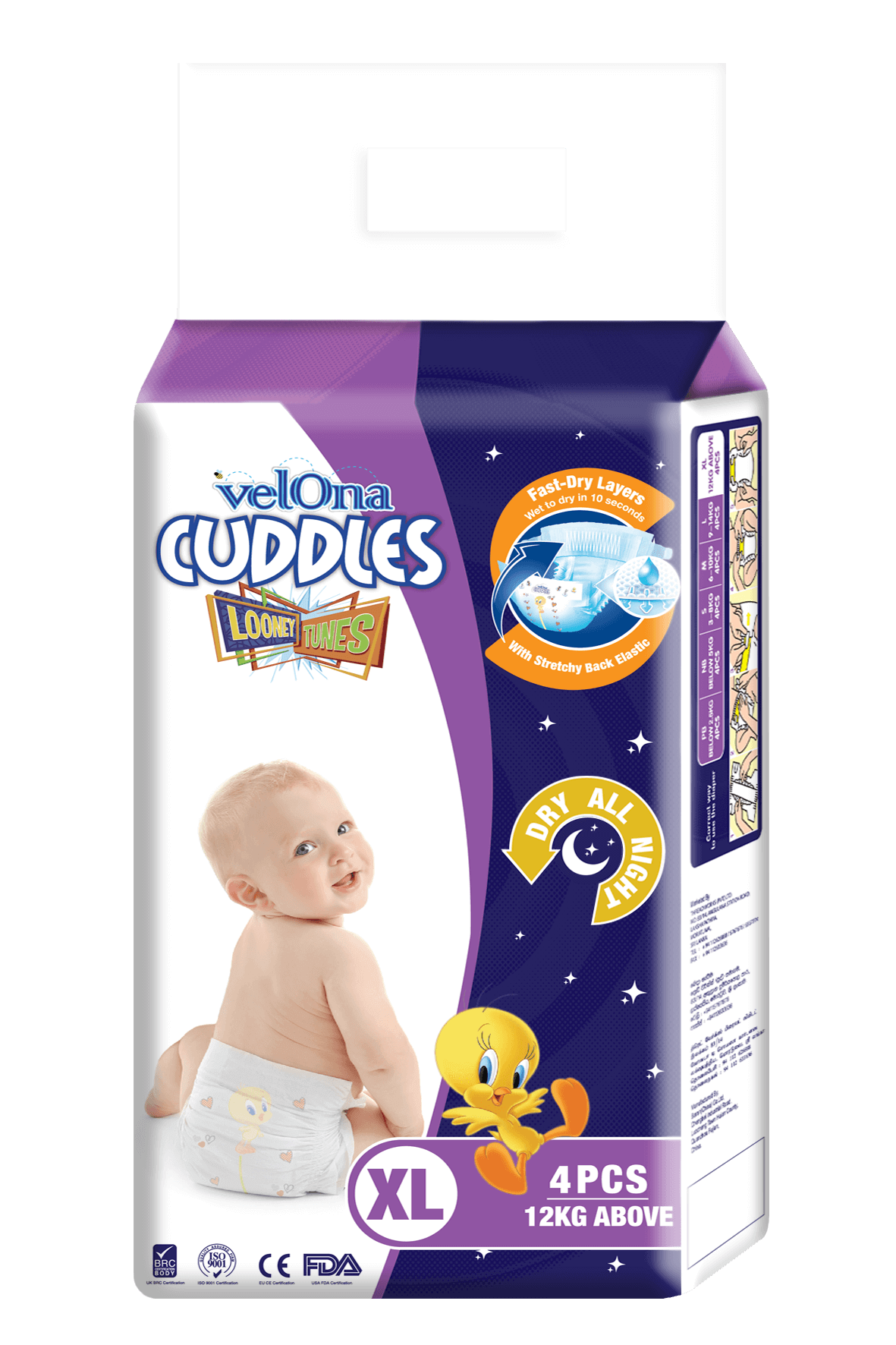 Velona Cuddles Slim Fit Night Diaper