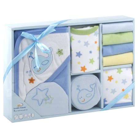 9 pc bath time gift set - blue