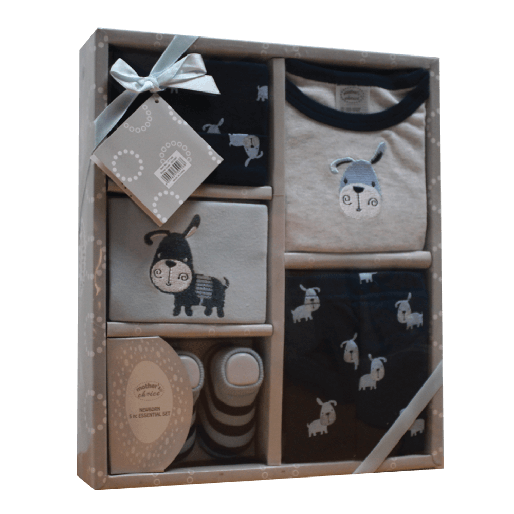 newborn essentials gift set in blue