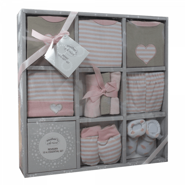 Newborn Essentials Pink Gift Pac - 10 pieces