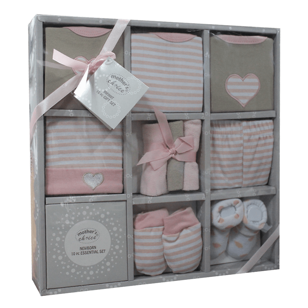 Newborn Essentials Pink Gift Pac - 10 pieces