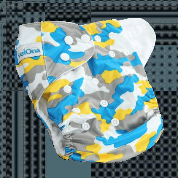 Velona Reusable cloth diaper in baby camo