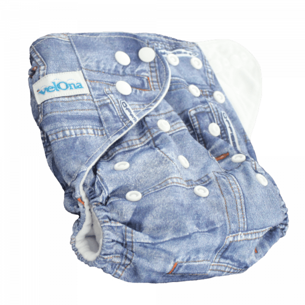 Velona Reusable cloth diaper in denim print