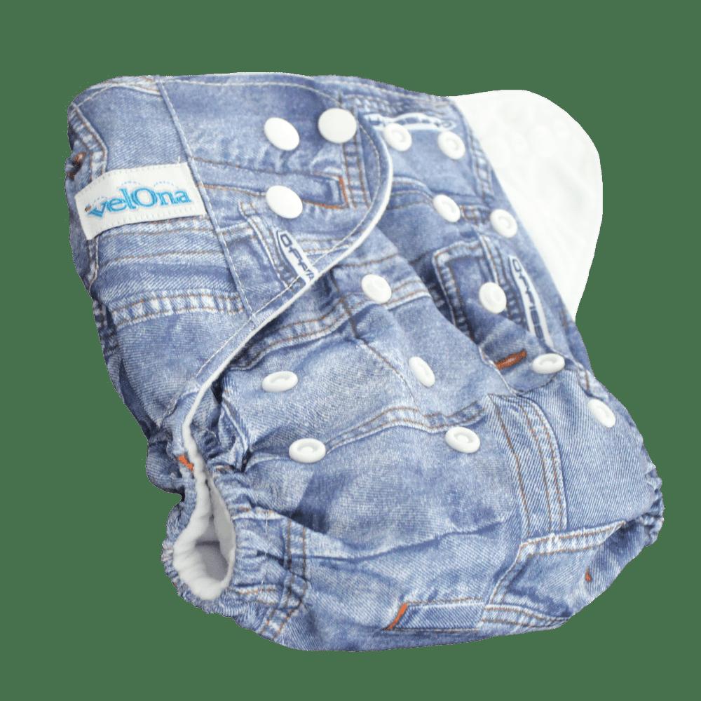 Velona Reusable cloth diaper in denim print