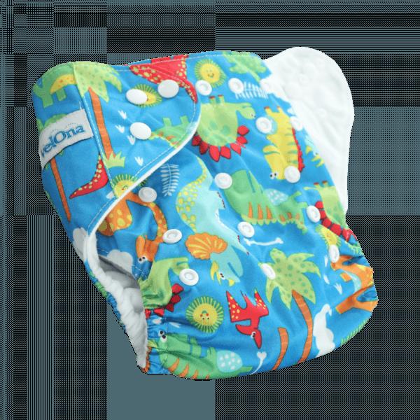 Velona Reusable Cloth Diaper in Dino Design