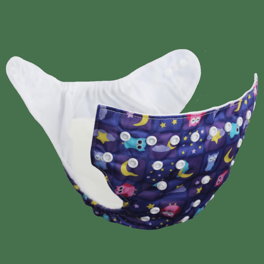 Velona Pocket Diaper in Dreamy Owls Design