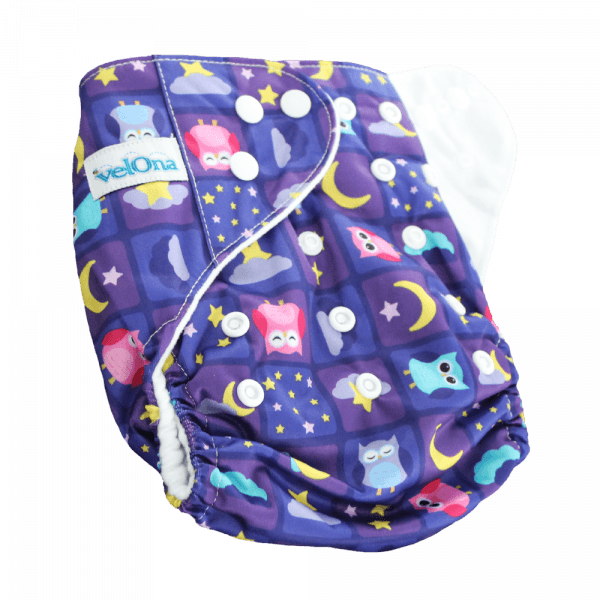 Velona Reusable cloth diaper in Dreamy Owls