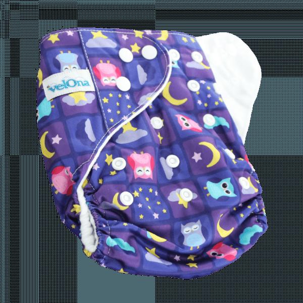 Velona Reusable cloth diaper in Dreamy Owls