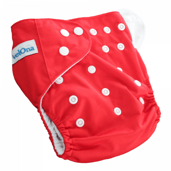 Velona Reusable Cloth Diaper in Red