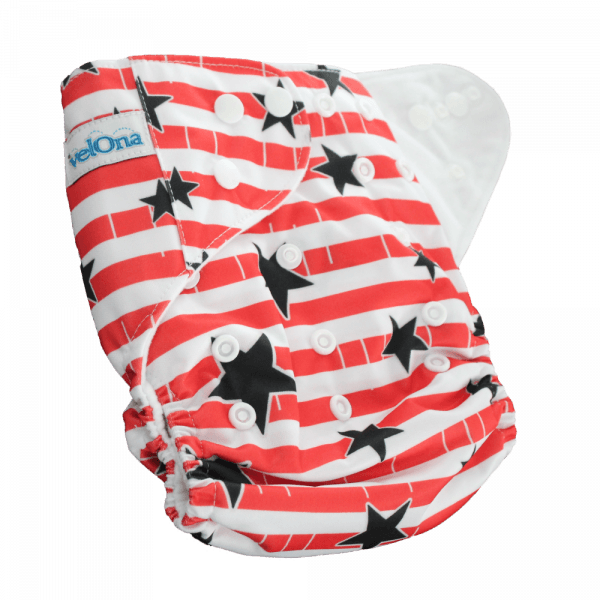Velona Reusable cloth diaper in stars and stripes