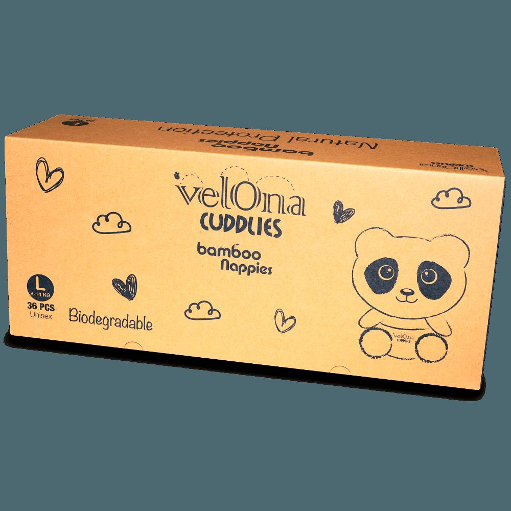 Velona Cuddlies Australian Bamboo Diaper - L