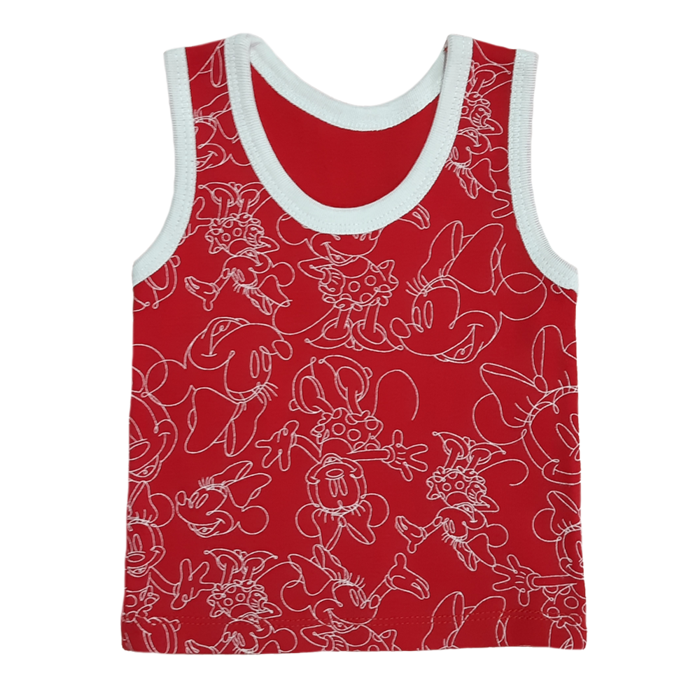 Printed baby vests for girls