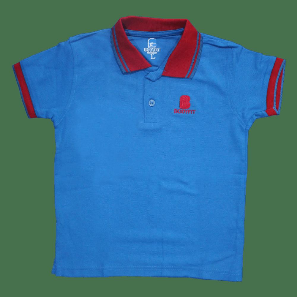BODYFIT KIDS POLO SHIRT (BLUE)