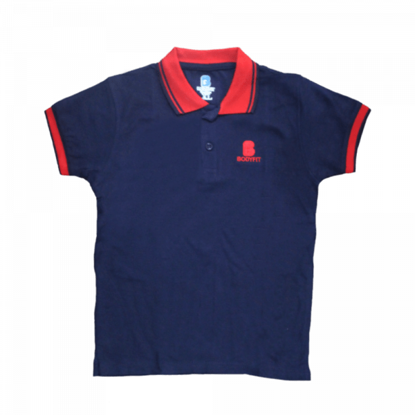 Velona 2 toned kids polo shirt