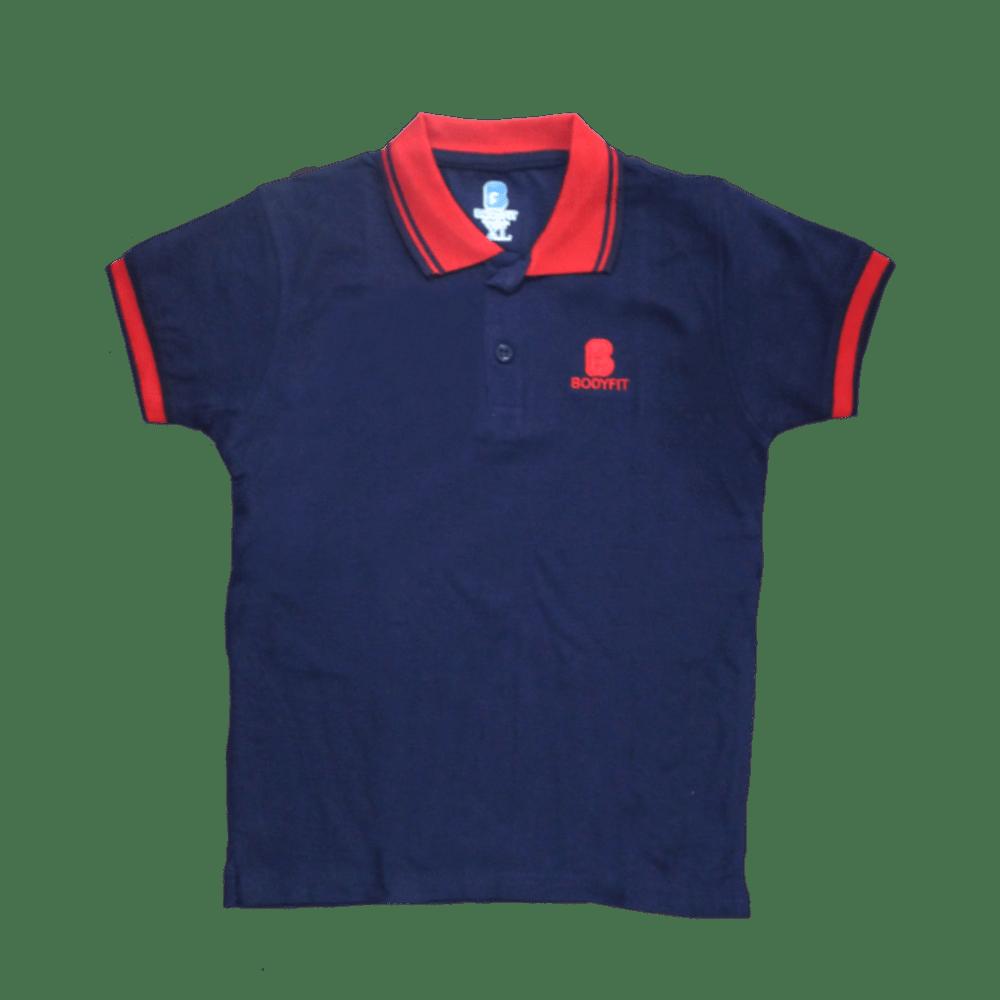 Velona 2 toned kids polo shirt