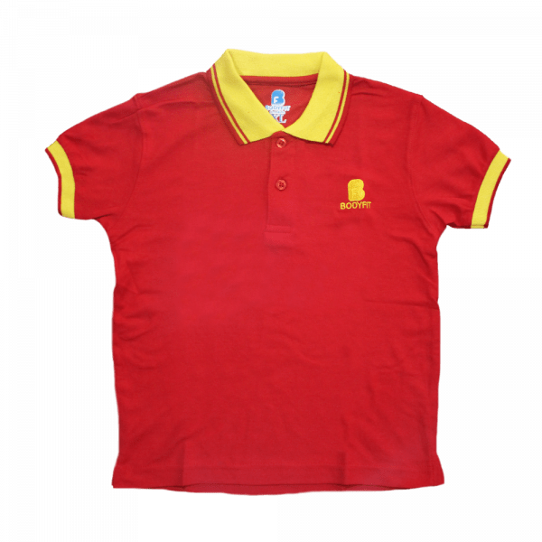 Bodyfit Kids Polo Shirt in Red