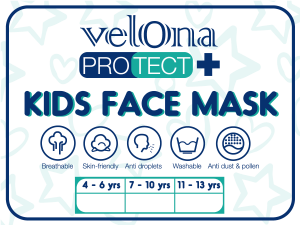 Velona Protect Kids Face Mask Sizes