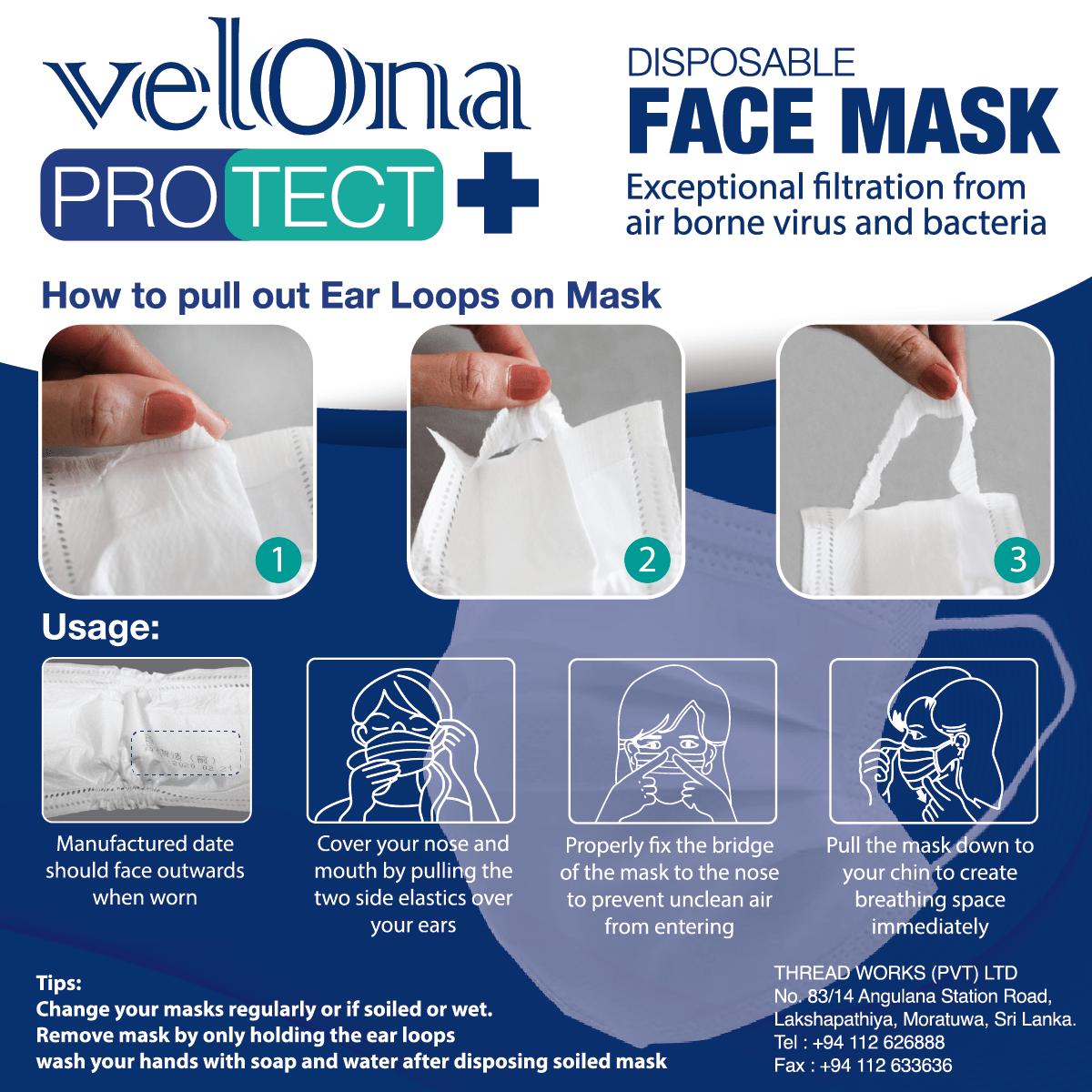 Velona Protect Disposable Mask