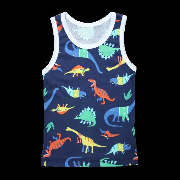 Velona Boys Baby Vest- Dinosaurs