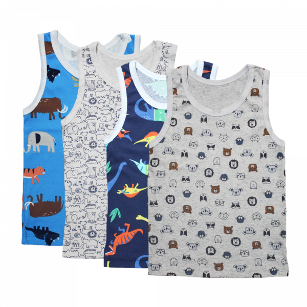 Velona Mixed Baby Vest Pack for Boys