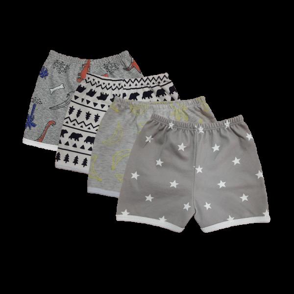Velona Unisex Shorts - 4pc pack