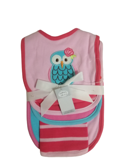 6pc Set of Bibs - Owl