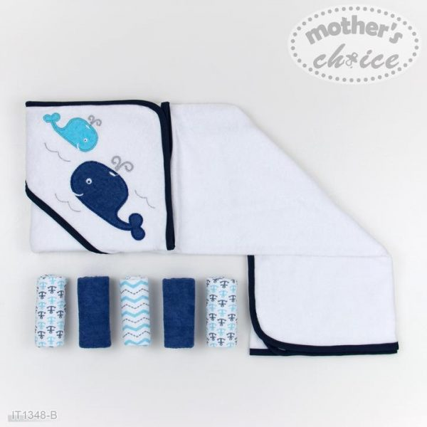 Hooded Towel and Face Cloths 6pc set