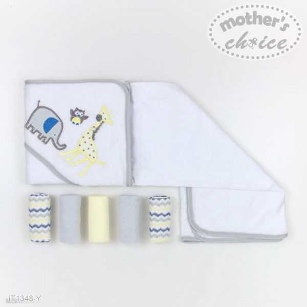 Hooded Towel and washcloths set 6pc