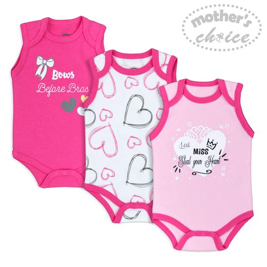 Girls 3pc Body Suits