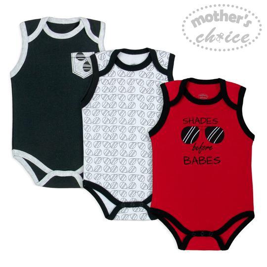 Boys Sleeveless Bodysuits